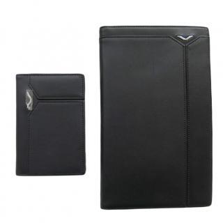 Vertu luxury black leather wallet and credit card holder