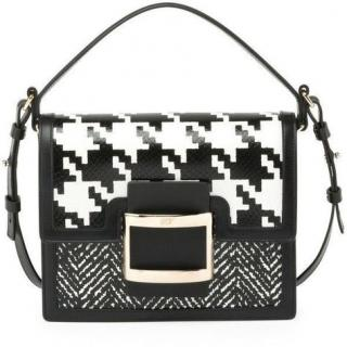 Roger Vivier Houndstooth Ms Viv Shoulder Bag
