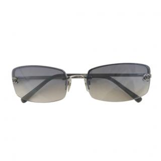 Chanel vintage silver grading lens sunglasses