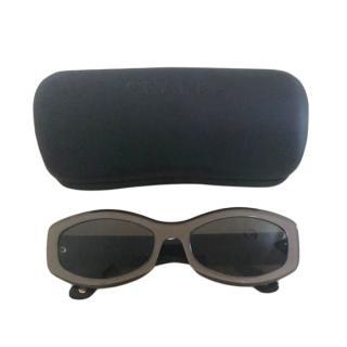 Chanel VIntage Praline Rectangle Sunglasses