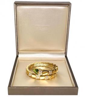 Bvlgari Serpenti gold, diamond and peridot bracelet