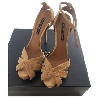 Ralph Lauren camel suede sandals