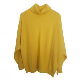 Max Mara Yellow Butterfly Sleeve Knit Jumper