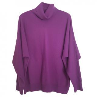 Max Mara Purple Wool Butterfly Sleeve Jumper