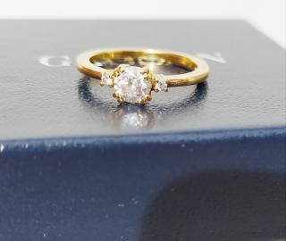 Bespoke 18k Gold Diamond Solitaire Ring