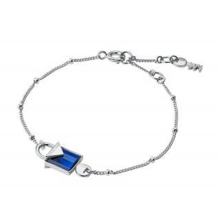 Michael Michael Kors Silver Blue Quartz Lock Bracelet