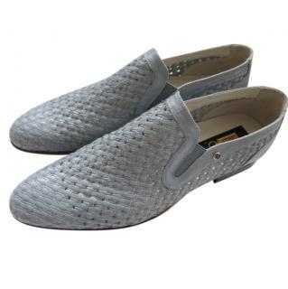 Zilli ligt blue/grey calfskin loafers