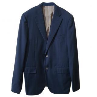 Corneliani Navy Blue Wool Blazer