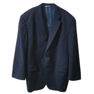 Burberry Kensington striped blue wool blazer