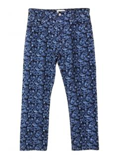 Isabel Marant Etoile embroidered floral blue jeans
