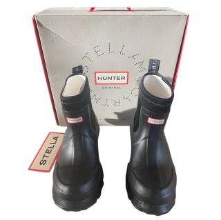 Stella McCartney x Hunter collaboration short rubber boots