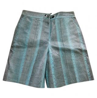 Louis Vuitton catwalk snakeskin shorts
