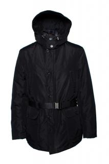 Valentino black parka jacket with removable hood