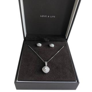 Love and Life Collection diamond pendant and earrings set