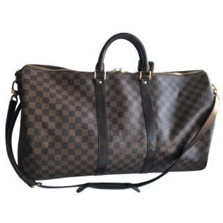 Louis Vuitton Damier Ebene Keepall 55 travel bag
