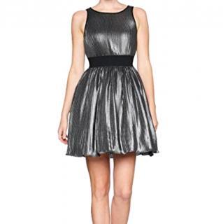 Manoush metallic silver grey dress