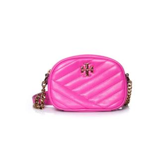 Tory Burch pink leather Kira Crossbody bag
