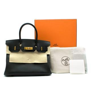 Hermes Noir Epsom Leather 30cm Birkin