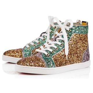 Christian Louboutin Bip Bop glitter high top sneakers