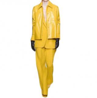 MaxMara yellow linen jacket