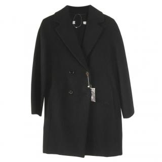 MaxMara wool and angora mix black coat