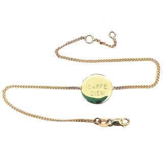 Bespoke 18ct Carpe Diem bracelet