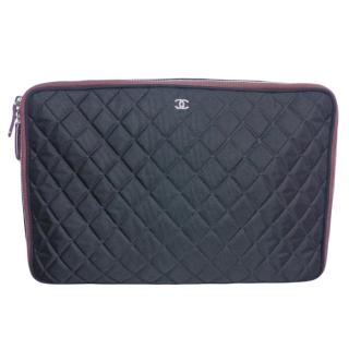 Chanel Quilted Black Documents Case