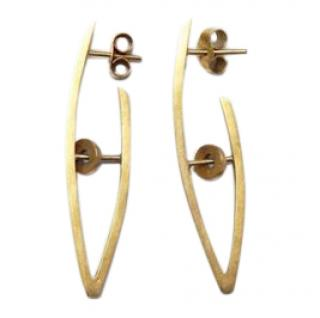 Amanda Doughty contemporary gallery gold earrings