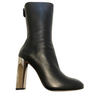 Alexander McQueen Black Lux Duchesse Boots