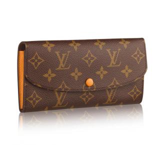 Louis Vuitton Orange Monogram Emilie Wallet