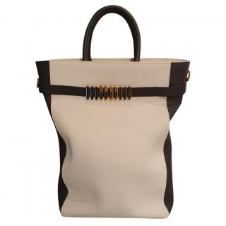 Balmain oversized black and white leather tote bag
