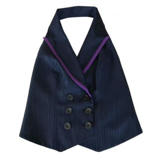 Christian Dior double breasted pinstriped waistcoat