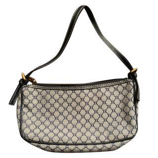 Celine vintage logo fabric shoulder bag