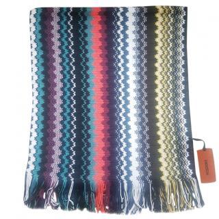 Missoni classic multi colour zig zag scarf
