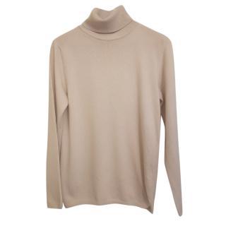 MaxMara light beige soft, fine wool dolce vita roll neck sweater