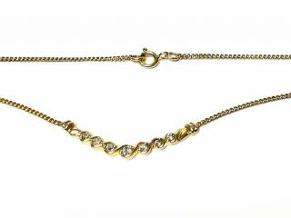 Bespoke diamond and 9ct gold necklace