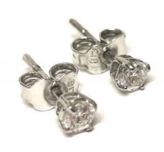 Bespoke 0.2ct white sapphire white gold stud earrings