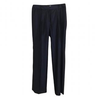 Christian Dior navy pinstriped trousers