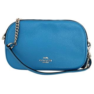 Coach blue leather shoulder bag
