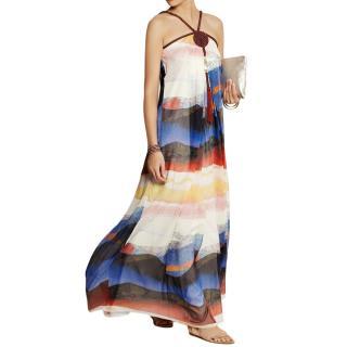 DVF silk chiffon Teddy maxi dress