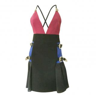 Fausto Puglisi wool crepe & silk dress