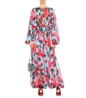 Dolce & Gabbana rose print silk runway jumpsuit