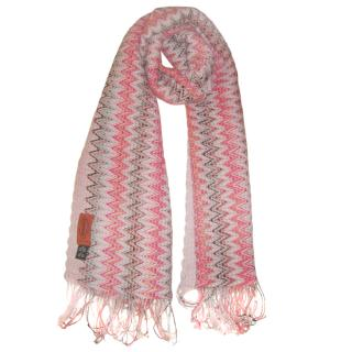 Missoni orange label zig zag wool scarf