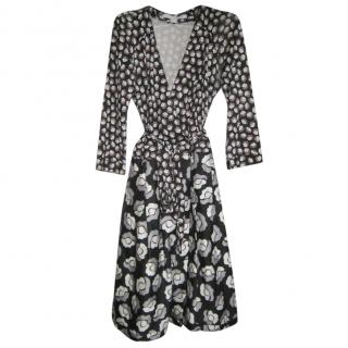 Diane Von Furstenberg Monogram Jewel Wrap Dress