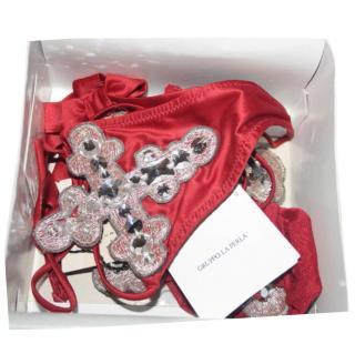 La Perla Red Swarovski Embellished Lingerie Set