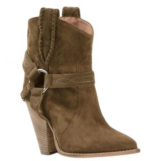 Isabel Marant Etoile Rawson Taupe Suede Ankle Boots
