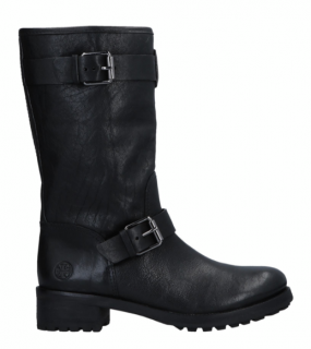 Tory Burch Black Leather Biker Boots
