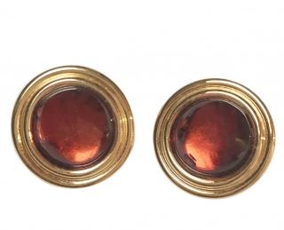 Lanvin Vintage Gold & Amber Earrings