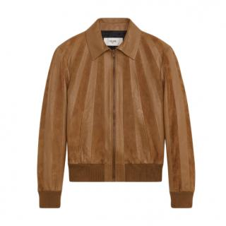 Celine jacket with dual-fabric stripes in suede - Current
