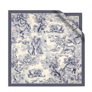 Dior Toile de Jouy square scarf in silk twill